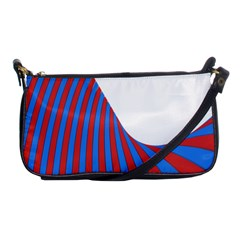 Curve Red Blue Shoulder Clutch Bags by Jojostore