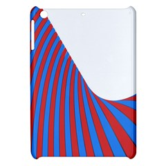 Curve Red Blue Apple Ipad Mini Hardshell Case by Jojostore