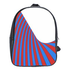 Curve Red Blue School Bags (xl)