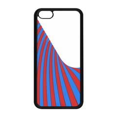 Curve Red Blue Apple Iphone 5c Seamless Case (black) by Jojostore