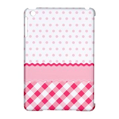 Cute Cartoon Decorative Pink Apple Ipad Mini Hardshell Case (compatible With Smart Cover)