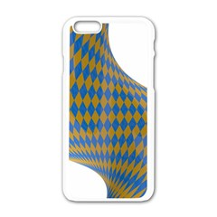 Curve Yellow Blue Apple Iphone 6/6s White Enamel Case