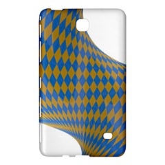 Curve Yellow Blue Samsung Galaxy Tab 4 (7 ) Hardshell Case
