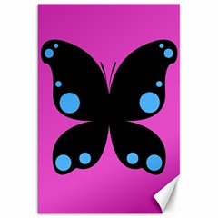 First Butterfly Pink Canvas 20  X 30