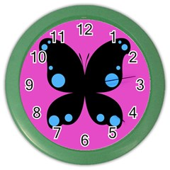 First Butterfly Pink Color Wall Clocks by Jojostore