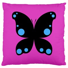 First Butterfly Pink Large Cushion Case (two Sides)