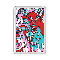 Face Mask Sinister Ipad Mini 2 Enamel Coated Cases by Jojostore