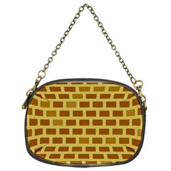 Tessellated Rectangles Lined Up As Bricks Chain Purses (two Sides)
