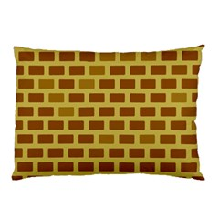 Tessellated Rectangles Lined Up As Bricks Pillow Case (two Sides)