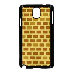 Tessellated Rectangles Lined Up As Bricks Samsung Galaxy Note 3 Neo Hardshell Case (black) by Jojostore