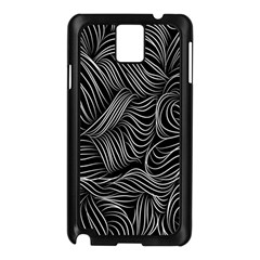 Flower Black Line Samsung Galaxy Note 3 N9005 Case (black) by Jojostore