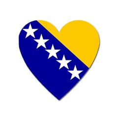Coat Of Arms Of Bosnia And Herzegovina Heart Magnet by abbeyz71