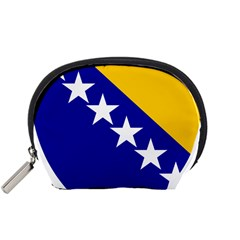 Coat Of Arms Of Bosnia And Herzegovina Accessory Pouches (small)  by abbeyz71