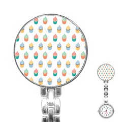 Cup Cake Stainless Steel Nurses Watch