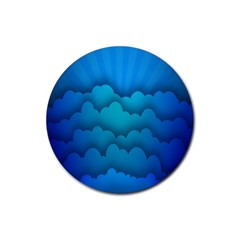 Blue Sky Jpeg Rubber Coaster (round)  by Jojostore