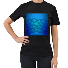 Blue Sky Jpeg Women s T-shirt (black)