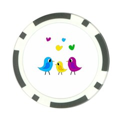Bird Family Poker Chip Card Guards