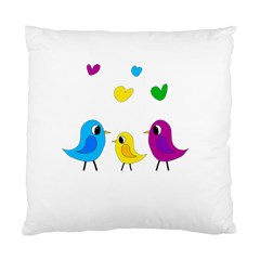 Bird Family Standard Cushion Case (one Side) by Valentinaart