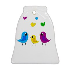 Bird Family Bell Ornament (2 Sides) by Valentinaart