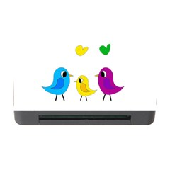 Bird Family Memory Card Reader With Cf by Valentinaart