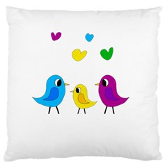 Bird Family Large Cushion Case (two Sides)