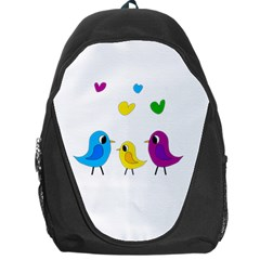 Bird Family Backpack Bag by Valentinaart