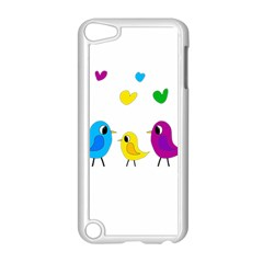 Bird Family Apple Ipod Touch 5 Case (white) by Valentinaart