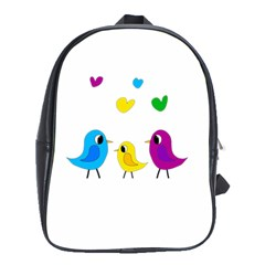 Bird Family School Bags (xl)