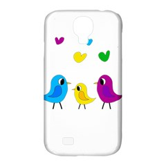 Bird Family Samsung Galaxy S4 Classic Hardshell Case (pc+silicone) by Valentinaart