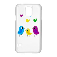 Bird Family Samsung Galaxy S5 Case (white) by Valentinaart