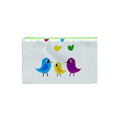 Bird Family Cosmetic Bag (xs) by Valentinaart