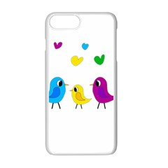 Bird Family Apple Iphone 7 Plus White Seamless Case