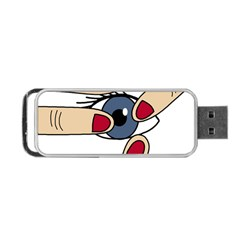 Poke Portable Usb Flash (two Sides) by Valentinaart