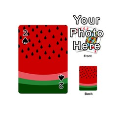 Watermelon  Playing Cards 54 (mini)  by Valentinaart