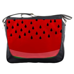 Watermelon  Messenger Bags by Valentinaart