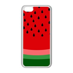 Watermelon  Apple Iphone 5c Seamless Case (white) by Valentinaart