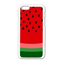 Watermelon  Apple Iphone 6/6s White Enamel Case by Valentinaart