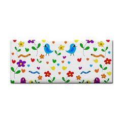 Cute Birds And Flowers Pattern Cosmetic Storage Cases by Valentinaart