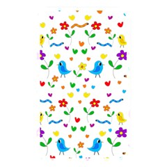 Cute Birds And Flowers Pattern Memory Card Reader by Valentinaart