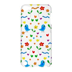 Cute Birds And Flowers Pattern Apple Ipod Touch 5 Hardshell Case by Valentinaart
