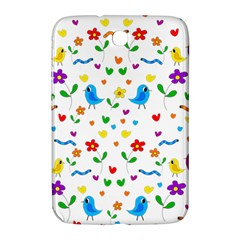 Cute Birds And Flowers Pattern Samsung Galaxy Note 8 0 N5100 Hardshell Case  by Valentinaart