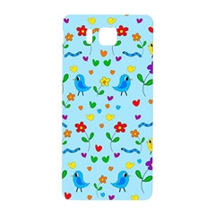Blue Cute Birds And Flowers  Samsung Galaxy Alpha Hardshell Back Case