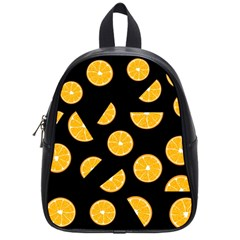 Oranges Pattern   Black School Bags (small)  by Valentinaart