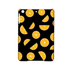 Oranges Pattern   Black Ipad Mini 2 Hardshell Cases by Valentinaart
