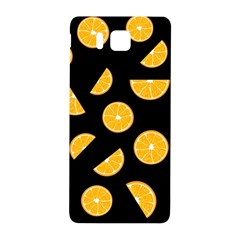 Oranges Pattern   Black Samsung Galaxy Alpha Hardshell Back Case by Valentinaart