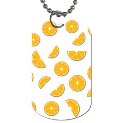 Oranges Dog Tag (two Sides) by Valentinaart