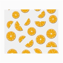 Oranges Small Glasses Cloth (2 Side) by Valentinaart