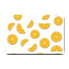 Oranges Small Doormat  by Valentinaart