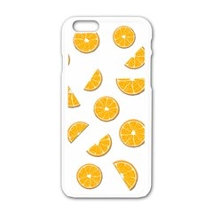 Oranges Apple Iphone 6/6s White Enamel Case by Valentinaart