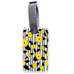 Yellow Floral Pattern Luggage Tags (two Sides)